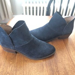 Lucky Brand Blue Leather Ankle Boots Booties 6.5